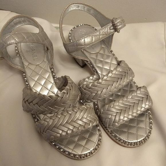 b086b498fdc4f5 CHANEL Shoes - Chanel Metallic Braid Sandals